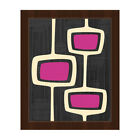 'Retro Purple Bubble Towers' Framed Canvas Wall Art