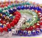 Sale Lot Of AB Crystal Glass Faceted Rondelle Loose Spacer Beads 4/6/8/10/12mm