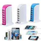 6 Port USB Hub Charger Charging Dock Station Wall Charger for iPhone & All Phone