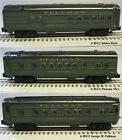 LIONEL 3 PACK PULLMAN LIGHTED PASSENGER CAR SET O GAUGE train coach 6-30111 NEW