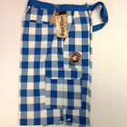 Blue White Plaid Colored Belted Cargo Shorts Size 44 Regal Wear Piranha Records