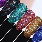 Holographic Effect Nail Sequins Hexagon Glitter Nail Flakes Powder BORN PRETTY
