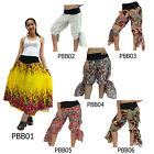 Pants PBB1-6 Cotton Harem Wide Flare Leg Bell Bottom Boho Hippie Sun Gypsy Women