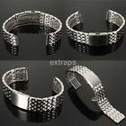 Premium Stainless Steel Watch Band Strap Double Lock Fold Clasp 18mm20mm22mm