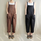 AU 8-24 Women Sleeveless Dungaree Jumpsuits Overalls Long Harem Pants Trousers