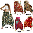 Pants PCR26 Jumpsuit 2in1 Harem Loose Comfy Genie Hippy Aladdin Women Trousers