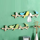 Wooden Bird Wall Mounted Coat Rack Hat Clothes Hanging Hanger Door Hooks Holder