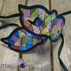 Gisela Graham Diamond Glitter Harlequin Mask Masquerade Ball Party Fancy Dress