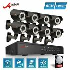 8CH 1080P POE Home Security System CCTV IP camera Zoom 2.8-12mm Kit NVR 3TB HDD