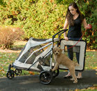 Внешний вид - NEW Pet Gear NO-ZIP Expedition Extra Large Dog Cat Stroller Zipperless 2 Colors