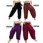 Pants PDC6 Thailand Harem Genie Baggy Aladdin Yoga Boho Comfy Women Men Trousers