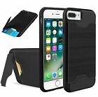 For iPhone 8 7 6 Plus Case Protective Credit Card Wallet Shockproof w/ Kickstand