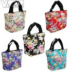 Women Canvas Girls Flowers Printing Shoulder Handbag Tote Shopper Bag Shopping