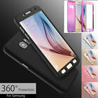 Hybrid 360° Hard Case Tempered Glass Cover For Samsung Galaxy S6 S7 Edge S8 plus