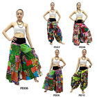 Pants PD6-10 Cotton Patchwork Aladdin Hippy Gypsy Harem Genie Wide Leg Sun Women