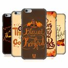 HEAD CASE DESIGNS THANKSGIVING TYPOGRAPHY HARD BACK CASE FOR APPLE iPHONE PHONES