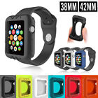 FOR Apple Watch iWatch protector Cover Case Screen Silicone Rugged 38mm 42mm