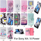 For SONY XA / X Power Leather Card Wallet Stand Flip Case Cover