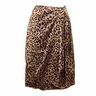 Faux Wrap Sarong Style Leopard Cheetah Skirt NWT Orig $58