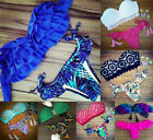 2016 Brazilian Colorful Sexy Womens Bikini Set top+bottom Holiday Beach Swimwear