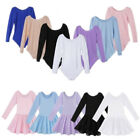 Внешний вид - Children Kids Girls Ballet Gymnastics Leotard Dance Dress Long Sleeve Dancewear