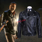 Walking Dead Cosplay man Coat Negan Men's Winter Black Leather Jacket New