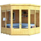 BillyOh Premium Wooden Tongue and Groove Corner Shed 7ft x 7ft Pent Roof & Felt