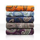 Flannel Paisley Pillowcases, 2-Piece, LightWeight, 5 Colors image