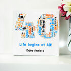 40TH BIRTHDAY CANVAS. WORD ART FRAMED PRINT - PERSONALISED GIFT - ANY NUMBER