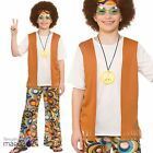 Boys Hippie Hippy Groovy Sixties 60s 70s Flower Power Fancy Dress Costume Outfit