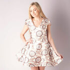 Womens Glamorous Brocade Dress In Cream From Get The Label