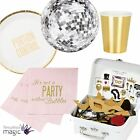 Talking Tables Glitterati Disco Ball Paper Plate Partyware Photo Booth Party Kit