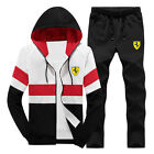Men Hoodies Zipper TrackSuit Sport Jacket  Sweater Suit Set Trousers  T005