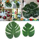 12Pcs Artificial Tropical Palm Leaves Leaf Hawaiin Luau Party Table Decor 2 Size