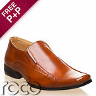 BOYS SLIP ON SHOES BROWN BLACK CREAM LEATHER FORMAL