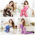 Women Sexy Lingerie Hollow Out Open Crotch Tight Fishnet Bodystocking Nightwear