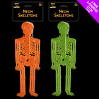 Neon Skeletons - 3 Pack - Halloween Skeleton Party Decoration Light Up Spooky