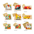 Wooden Puzzle Educational Animal Transport 3D Jigsaw multilayer cartoon Toy 2017