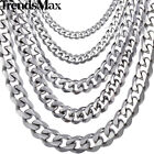 8-36inch 3/5/7/9/11mm Mens Chain Stainless Steel Curb Cuban Necklace Bracelet