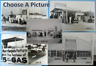 """Antique Gas Stations & Service Garages  Black & White Picture  12 X 18"""""""