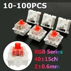 Lot 10-100Pcs For Cherry 3 Pin MX RGB Mechanical Switch Keyboard Replacement Red
