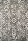 Dalyn Gray Contemporary Synthetics Petals Vines Curves Area Rug Floral GA3