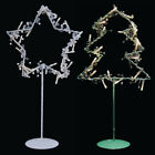 Christmas Themed 20 LED Light Metal Wire Star Tree Ornament Stand Display Lamp