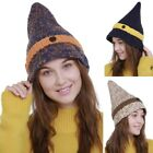 Hot Women's Knitted Beanie Unique Pointy Warm Hats Winter Elastic Crochet Caps
