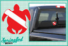 SEA TURTLE Shaped DIVE Flag Vinyl Decal Car Truck Sticker SCUBA Diving Decal