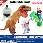 Funny Inflatable Suit Ride Dinosaur Child Adult Fancy Dress Costume Outfit Party