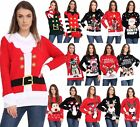 Ladies Unisex Mens Novelty Retro Rudolph Reindeer Christmas Xmas 3D Jumpers Tops
