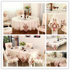 1X Floral Lace Embroidery Tablecloth Home Dinner Table/TV Furniture Europe Cover