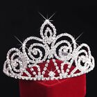 Silver Rhinestone Crystal Wedding lady Headdress Tiara Crown Princess Headdress