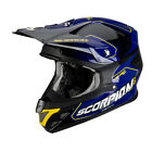 Scorpion Motocross Helm - VX-20 - Air - Sherco - blau-schwarz Motocross Enduro M